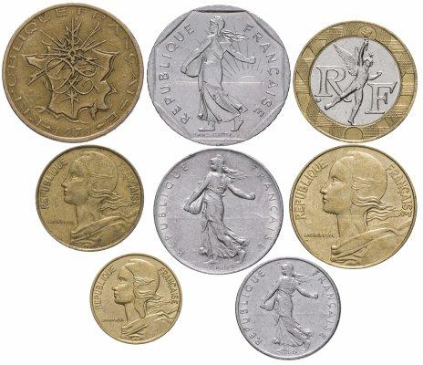 купить Франция набор монет 1963-1991 (8 штук)