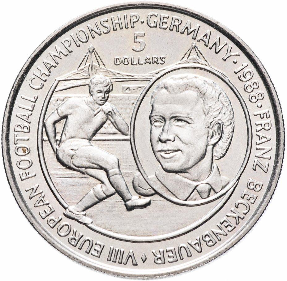 купить Ниуэ 5 долларов (dollars) 1988 Чемпионат Европы по футболу, ФРГ 1988