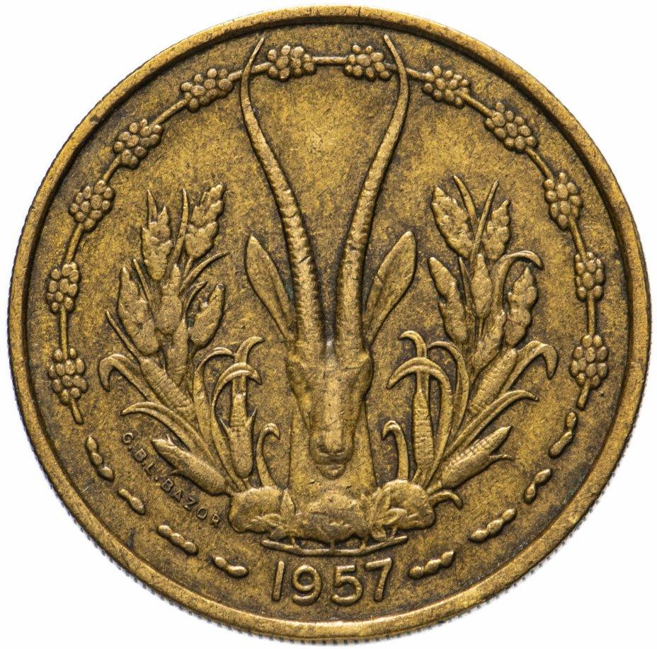 купить Французская Западная Африка 25 франков (francs) 1957