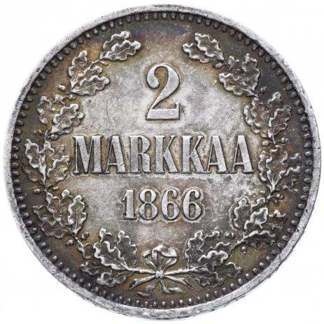 купить Финляндия 2 марки 1866 S