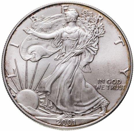 купить США 1 доллар (dollar) 2001    Американский серебряный орёл Без отметки монетного двора США