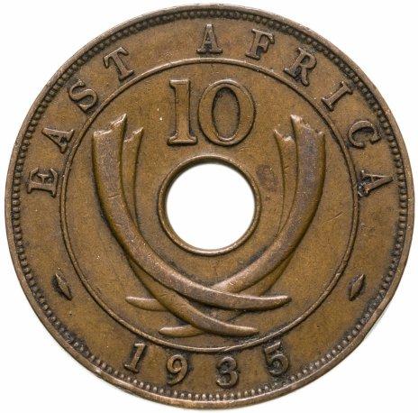 купить Британская Восточная Африка 10 центов (cents) 1935