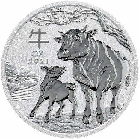 """купить Австралия 1 доллар (dollar) 2021 """"Китайский гороскоп - год быка"""""""