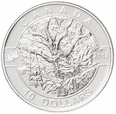 """купить Канада 10 долларов 2014 """"О,Канада! Старый клен"""""""