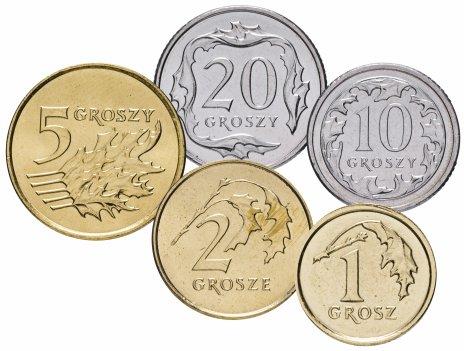 купить Польша набор из 5 монет 2010-2014 гг