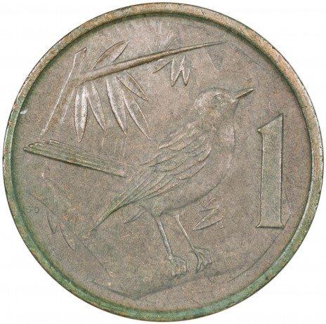 купить Каймановы острова 1 цент 1987