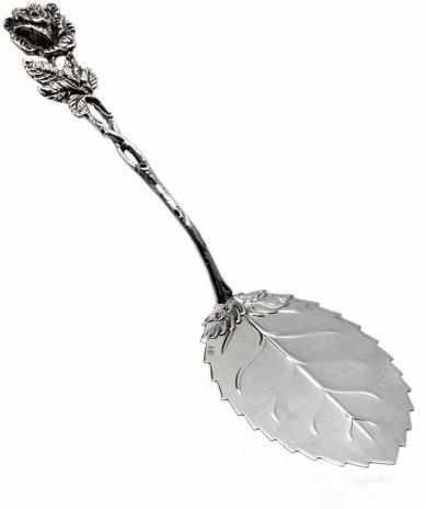 купить Лопатка сервировочная для подачи десертов «Хильдесхаймская роза», серебро 830 пр.,  г. Стокгольм, Швеция, 1940-1960 гг.