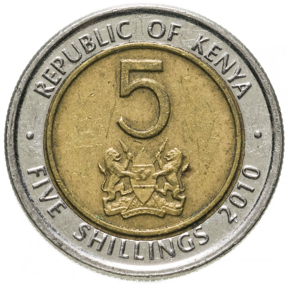 купить Кения 5 шиллингов (shillings) 2010 магнетик