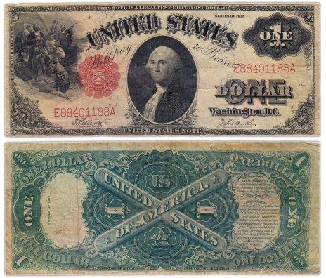 купить США 1 доллар 1917 series 1917 Legal Tender Note Elliot-Burke