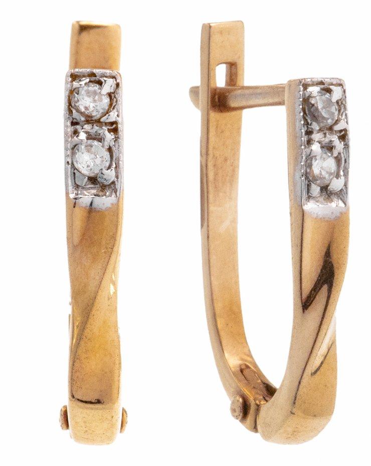 купить Серьги с витым декором, золото 585 пр., Россия, 2000-2005 гг.