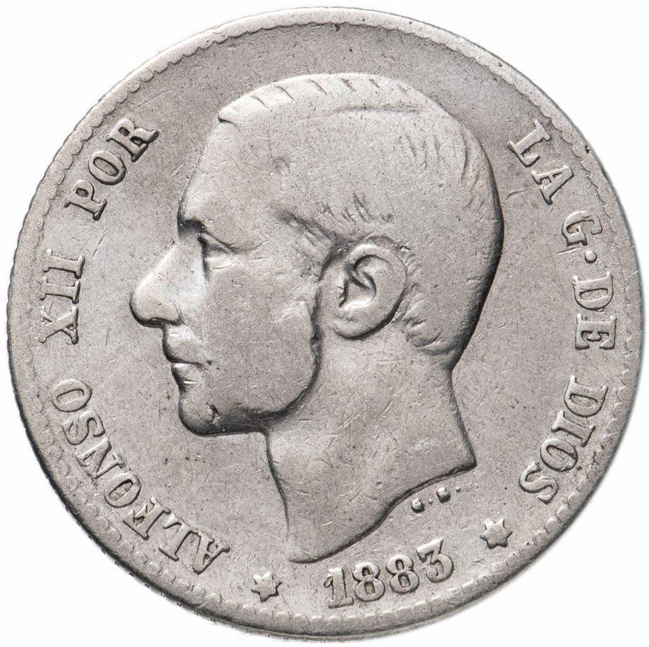 купить Испания 1 песета (peseta) 1883