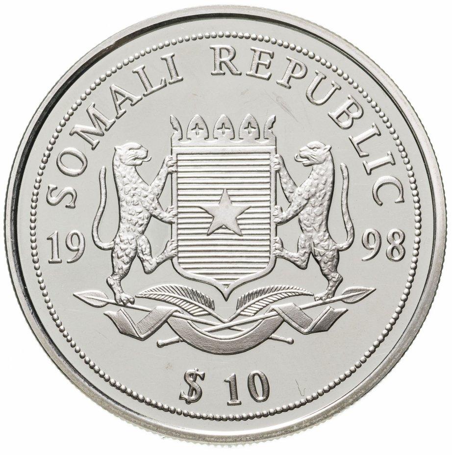 купить 10 долларов (dollars) 1998  Морская жизнь под защитой  Сомали