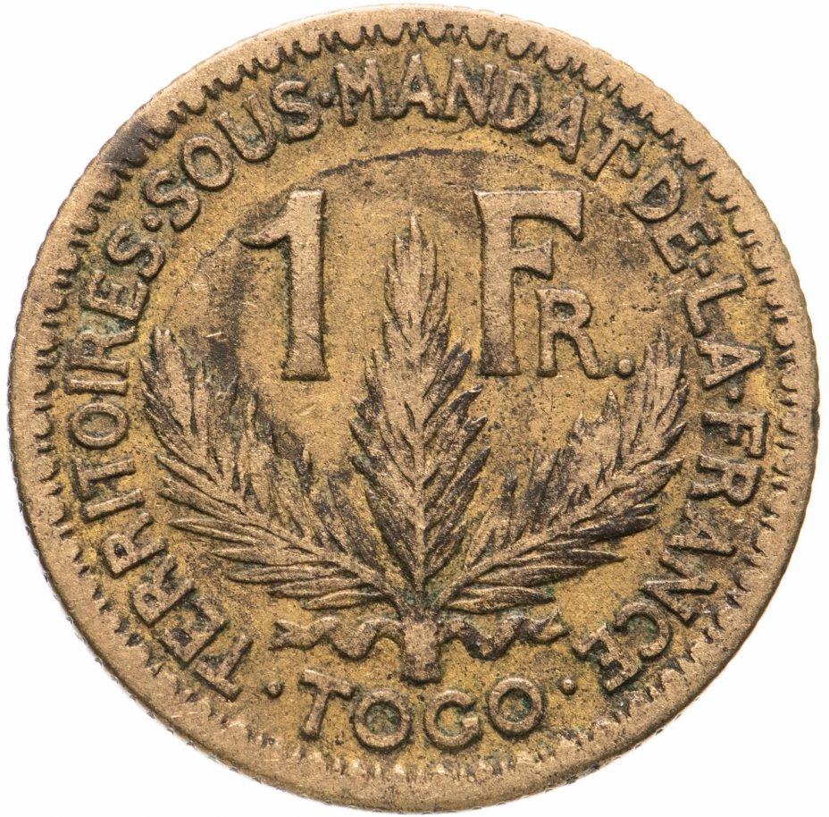 купить Французский Того 1 франк 1924