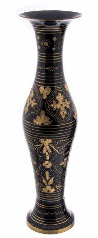 купить Ваза декорированная в восточном стиле с гравировкой в виде цветов, латунь, Индия, 1970-1990 гг.