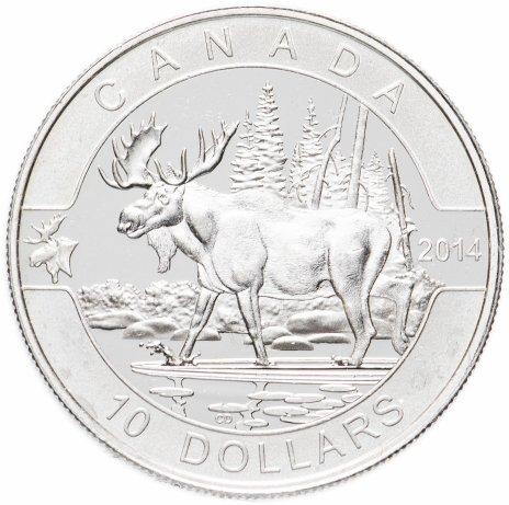"""купить Канада 10 долларов 2014 """"О,Канада! Лось"""""""