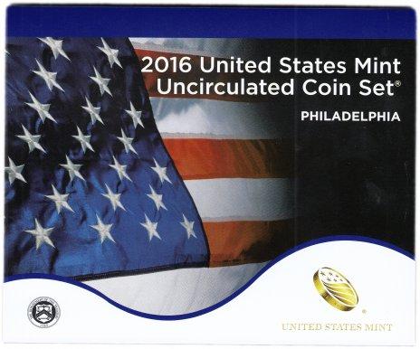купить США официальный набор монет 2016 год Филадельфия (13 монет)