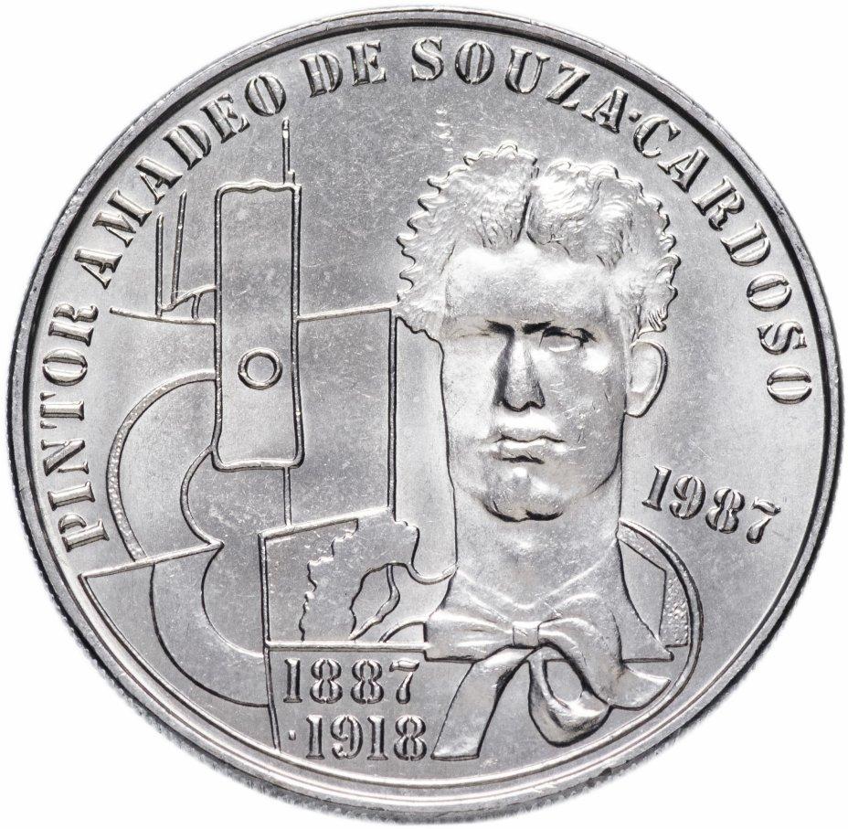 """купить Португалия 100 эскудо (escudos) 1987   """"100 лет со дня рождения Амадеу ди Соуза-Кардозу"""""""