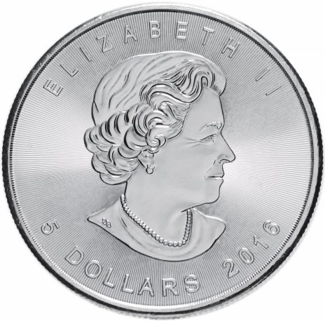 """купить Канада 5 долларов 2016 """"Кленовый лист"""""""