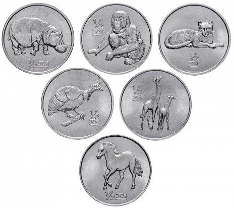 """купить Северная Корея (КНДР) набор монет 1/2 чона 2002 """"Животные"""" (6 штук)"""