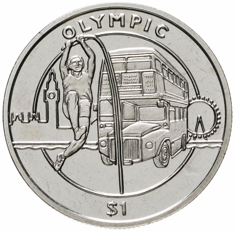 купить Сьерра-Леоне 1 доллар 2012 XXX летние Олимпийские Игры, Лондон 2012 - Прыжок с шестом