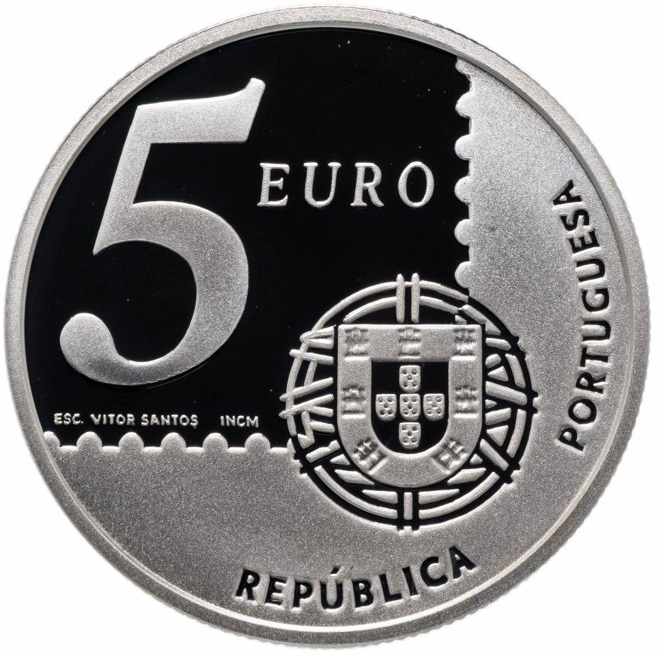"""купить Португалия 5 евро (euro) 2003 """"150 лет первой почтовой марке Португалии"""""""