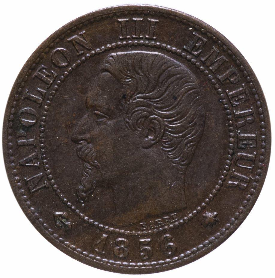 """купить Франция 1 сантим (centime) 1856 """"BB"""""""