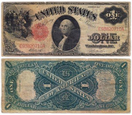купить США 1 доллар 1917 series 1917 Legal Tender Note, Elliot-Burke