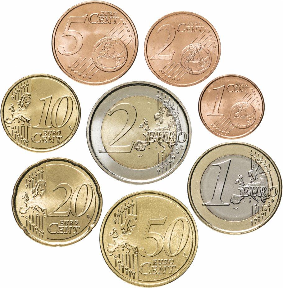 купить Испания набор монет евро 2007 (8 штук)