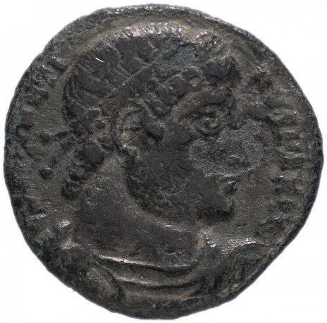 купить Римская Империя, император не установлен, фракция фоллиса (реверс: два воина стоят лицом друг к другу, между ними два штандарта)
