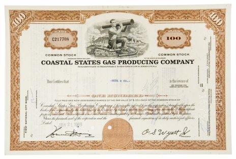 купить Акция США  COASTAL STATES GAS  PRODUCING COMPANY, 1969 г.