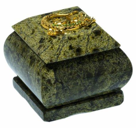 купить Шкатулка из змеевика, 5,7х5,7х5,3 см