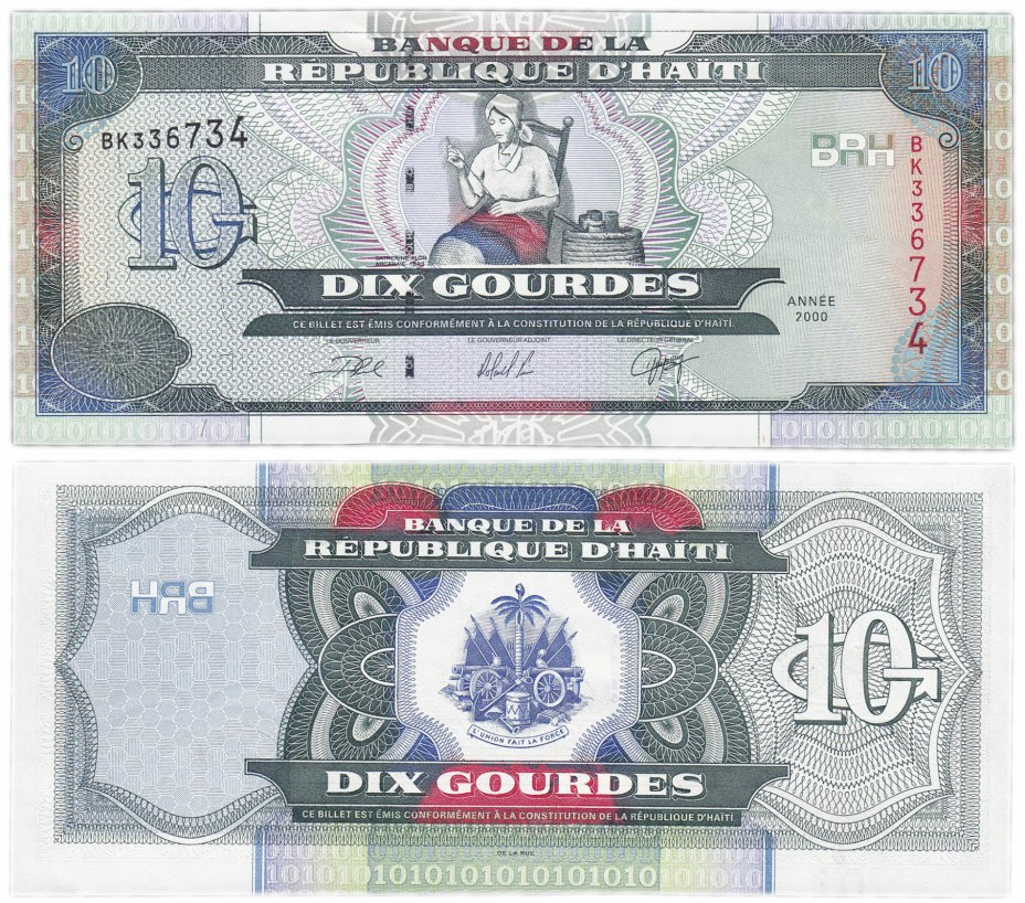 купить Гаити 10 гурд 2000 (Pick 265a)