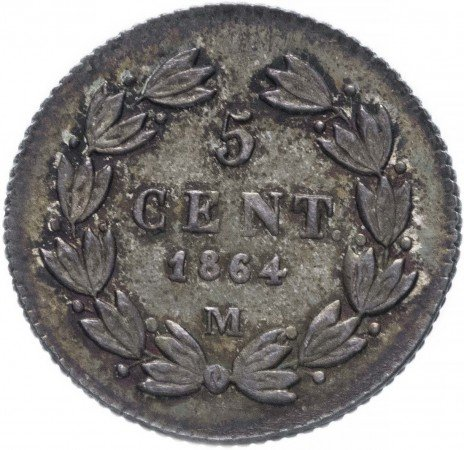 купить Мексика 5 сентаво 1864 M