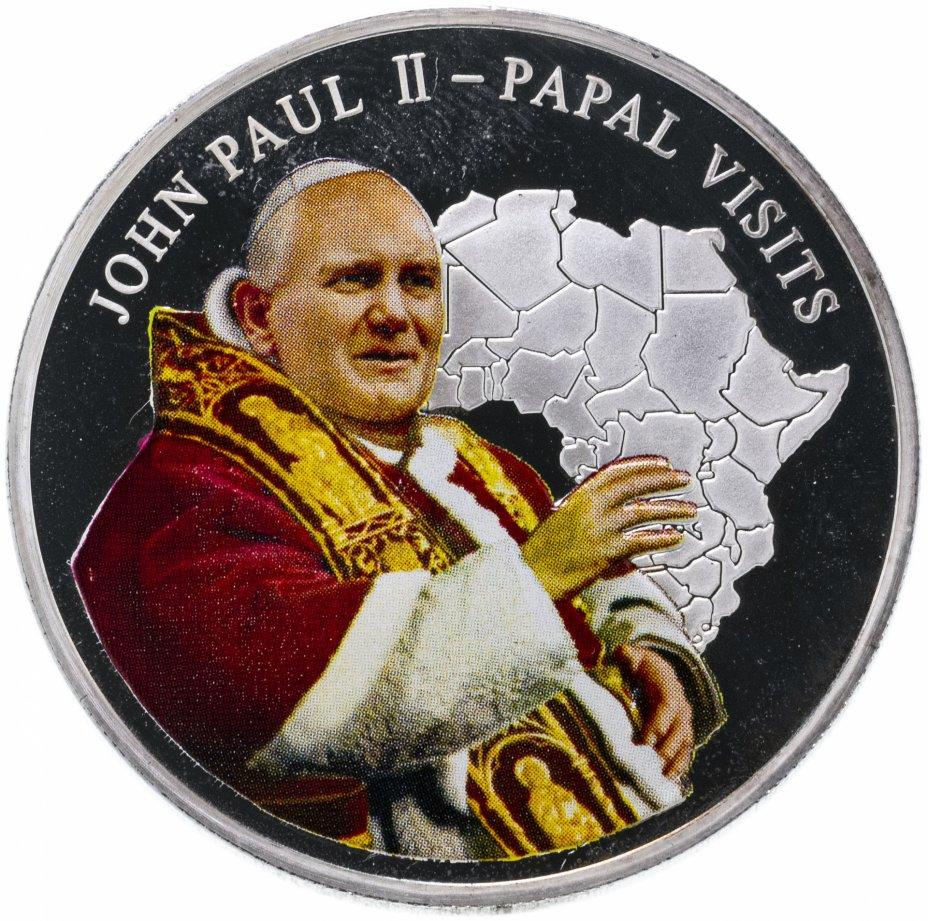 """купить Либерия 5 долларов 2005 """"Папа Иоанн II"""""""