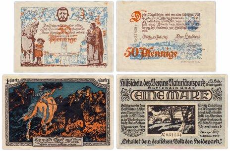 купить Германия (разные земли) набор из 2-х нотгельдов 1921