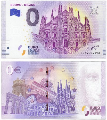 купить 0 евро (euro) «Миланский собор» 2018 (NEW)
