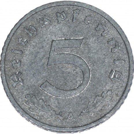 купить Третий Рейх 5 рейхспфеннигов 1942