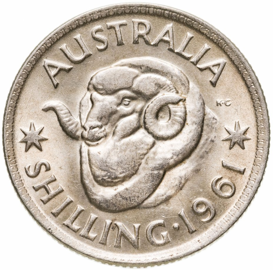 купить Австралия 1 шиллинг (shilling) 1961