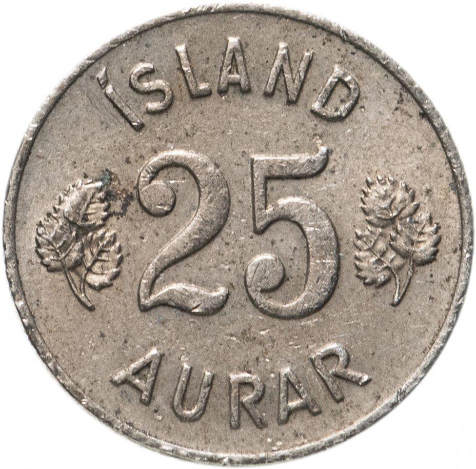 купить Исландия 25 эйре (aurar) 1951-1967, случайная дата