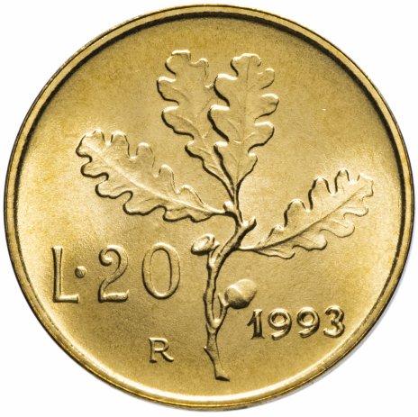купить Италия 20лир (lire) 1993