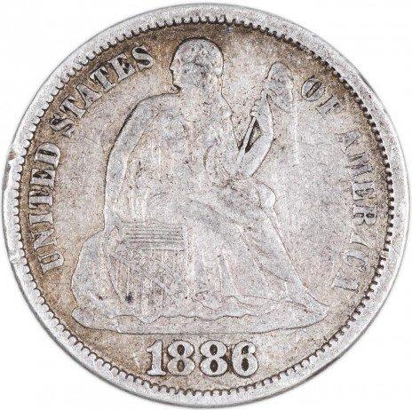 купить США 1 дайм 1886