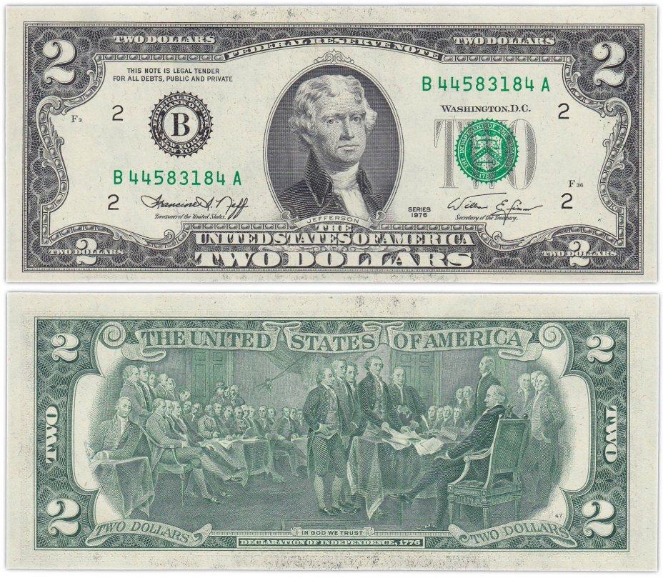купить США 2 доллара 1976 series 1976  (Pick 461) B-Нью-Йорк