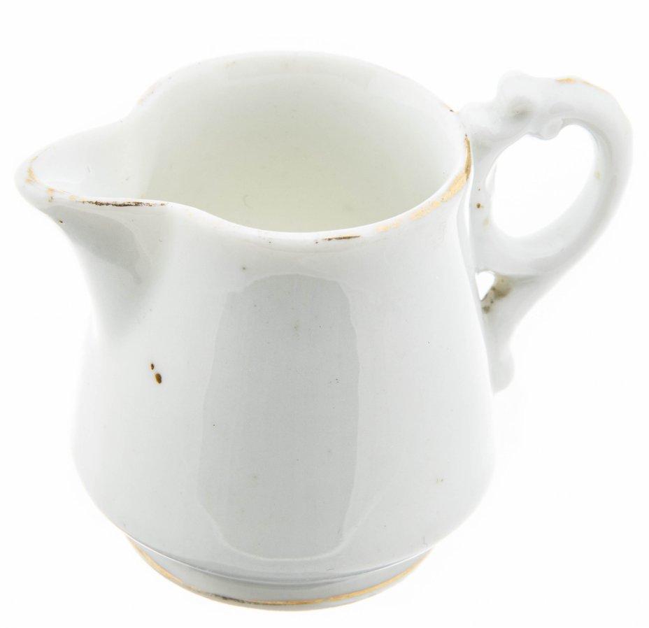 купить Миниатюрный молочник лаконичной формы, фарфор, золочение, Товарищество Кузнецова, Российская Империя, 1890-1917 гг.