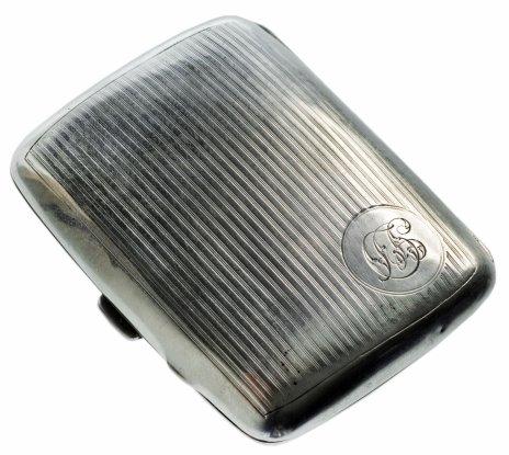 купить Старинный серебряный портсигар, Великобритания с клеймом