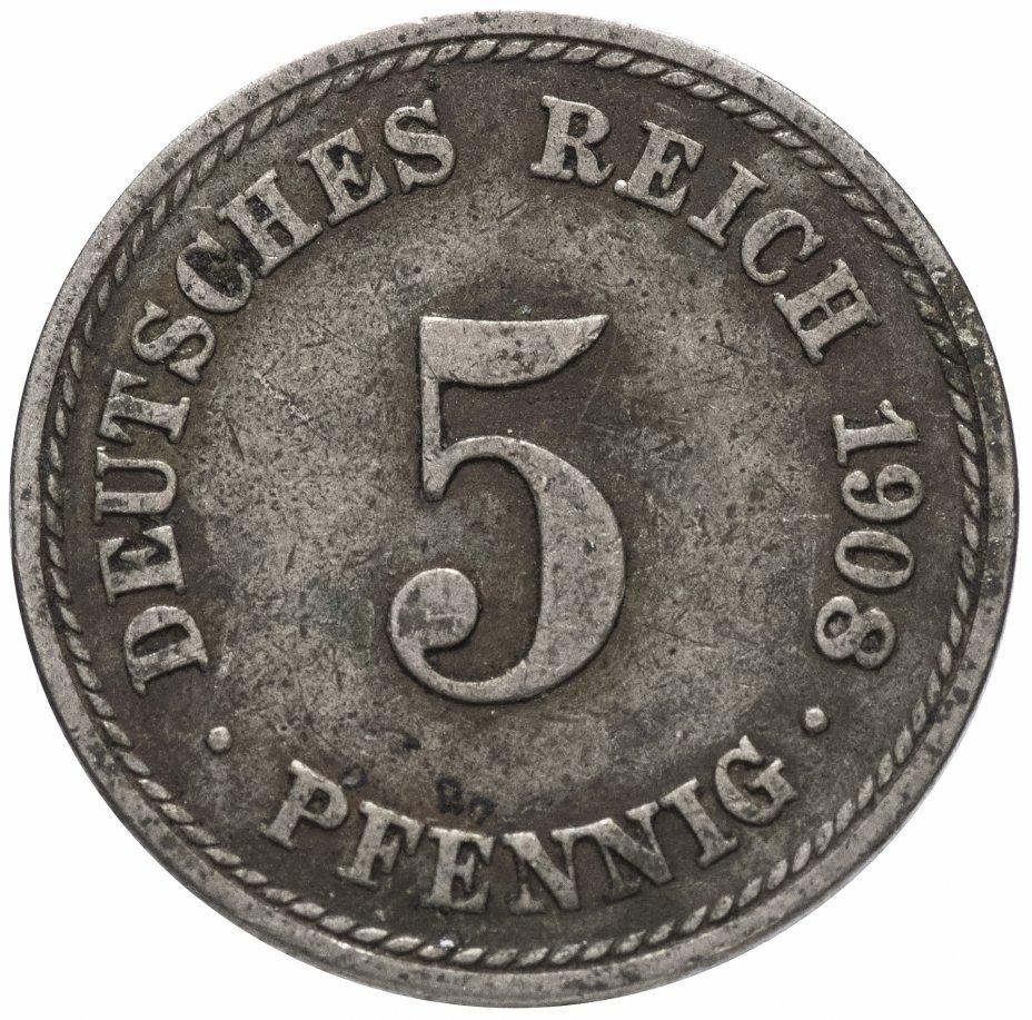 купить Германия 5 пфеннигов (pfennig) 1890-1915, случайная дата и монетный двор