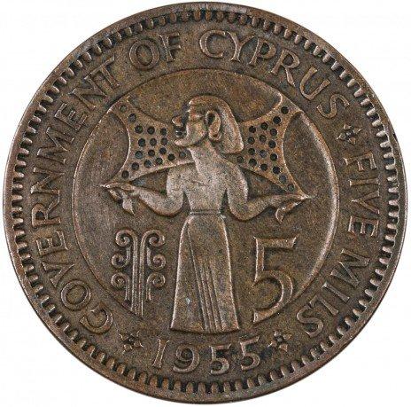 купить Кипр 5 милей 1955