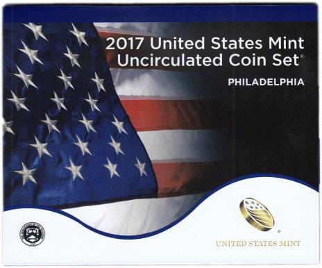 купить США официальный набор монет 2017 год Филадельфия (10 монет)