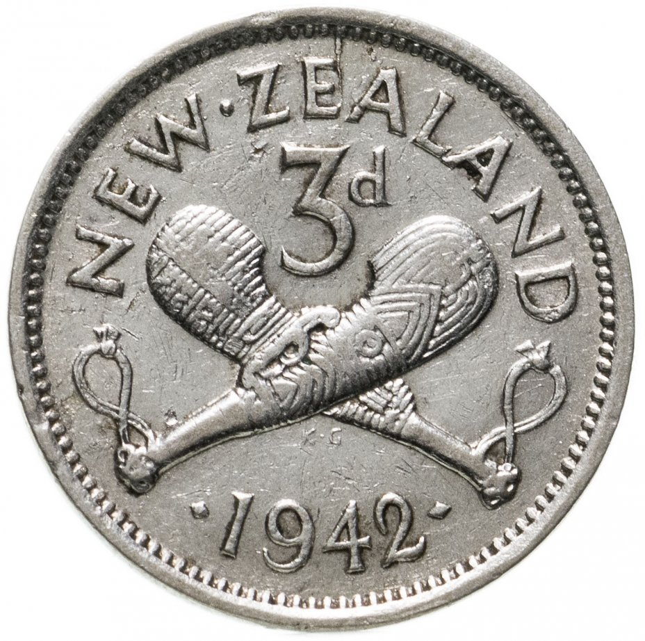 купить Новая Зеландия 3 пенса (pence) 1942