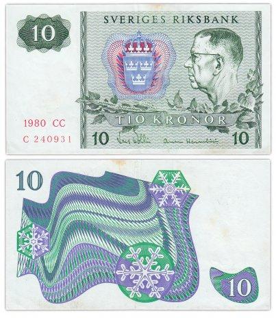 купить Швеция 10 крон 1980 (Pick 52e)