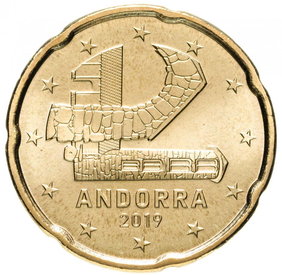 купить Андорра 20 центов (cents) 2019